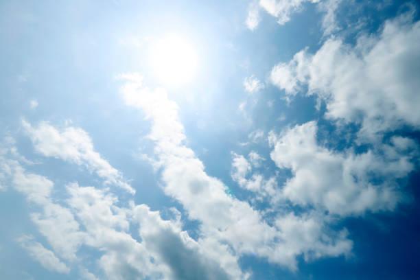 Cloudy sky and sun:スマホ壁紙(壁紙.com)