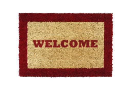 Contour Drawing「doormat red welcome」:スマホ壁紙(1)