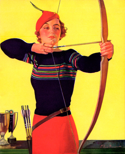 One Young Woman Only「Woman Holding Bow And Arrow」:写真・画像(3)[壁紙.com]