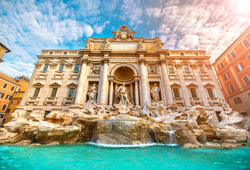Sculpture「Famous Trevi Fountain Rome Italy」:スマホ壁紙(6)