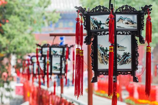 Chinese Lantern「Dongyue Temple, Chinese lanterns」:スマホ壁紙(11)