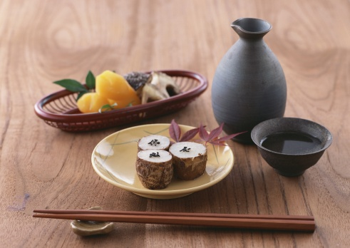 Saki Decanter「Image of Japanese appertizer and sake」:スマホ壁紙(13)