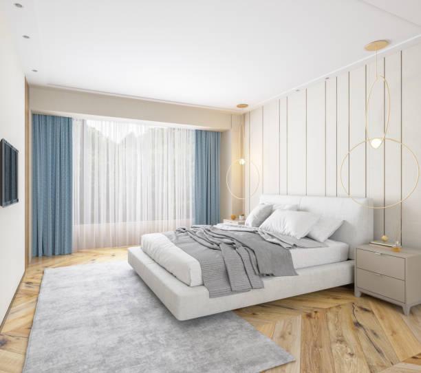 Elegant Bedroom Interior:スマホ壁紙(壁紙.com)