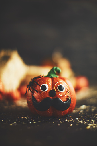 Eyesight「Pumpkin character with mustache and monocle」:スマホ壁紙(13)