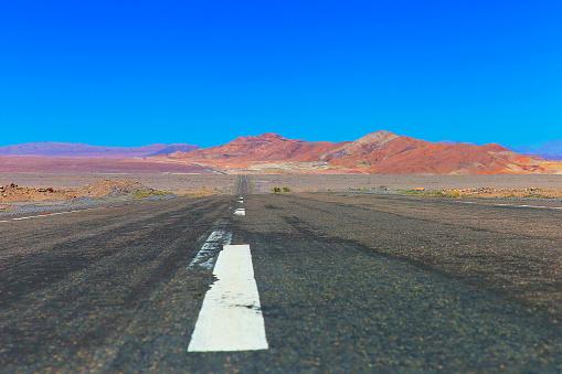 Bolivian Andes「Highway asphalt Road to Atacama Desert  – volcanic landscape –  Chile」:スマホ壁紙(9)