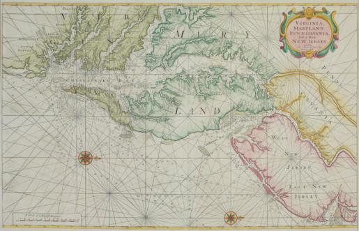 Chesapeake Bay「Nautical map of Chesapeake Bay」:スマホ壁紙(6)