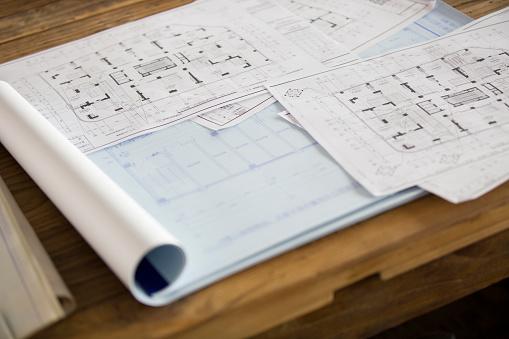 Beijing「Blueprints on office desk」:スマホ壁紙(18)