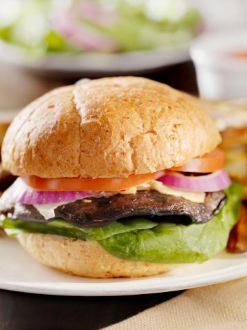 Veggie Burger「Portabello Mushroom Burger with Spinach」:スマホ壁紙(4)