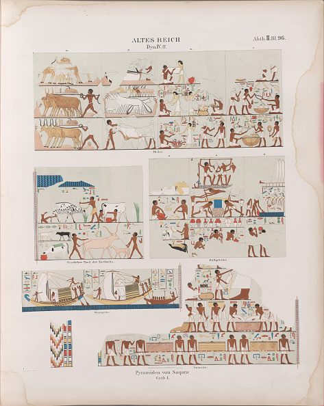 Chromolithograph「Old Kingdom. Fourth Dynasty. Pyramids At Saqqara. Monuments From Egypt And Ethiopia」:写真・画像(8)[壁紙.com]