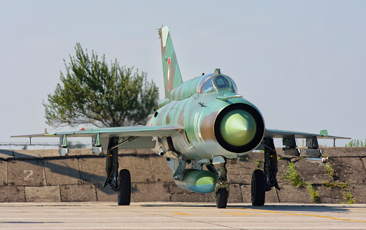 ミリタリー「A Bulgarian Air Force MiG-21 during Exercise Thracian Star 2015 in Bulgaria.」:スマホ壁紙(16)