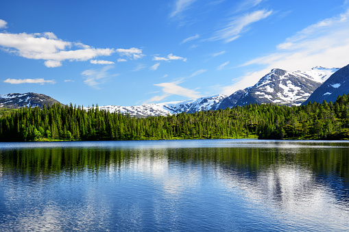 夏「Litle Luktvatnet 湖、ノルウェー」:スマホ壁紙(7)