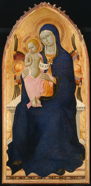 Tempera Painting「Madonna And Child Enthroned With Two Cherubim」:写真・画像(10)[壁紙.com]