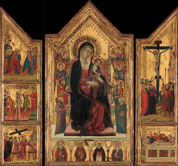 Gold Leaf「Madonna And Child Enthroned. Creator: Master Of Monte Oliveto.」:写真・画像(6)[壁紙.com]