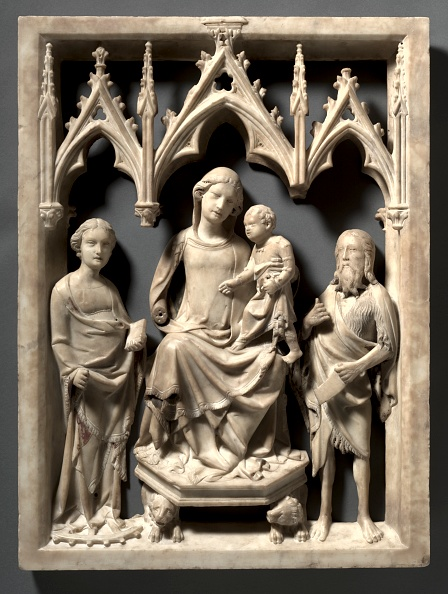 Circa 14th Century「Madonna And Child With Saints Catherine And John The Baptist」:写真・画像(5)[壁紙.com]