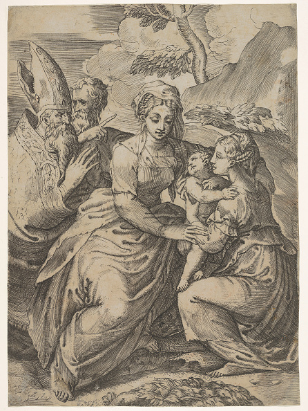 Virgin Mary「Madonna And Child With Saints (After Parmigianino) Creator: Battista Del Moro」:写真・画像(19)[壁紙.com]