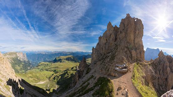 Langkofel「Alpe di Siusi - Friedich-August-Weg Footpath to Mount Schlern」:スマホ壁紙(10)