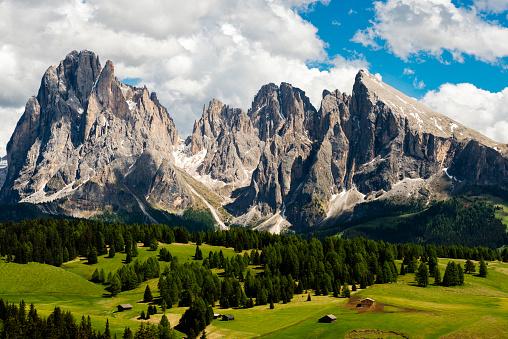 Langkofel「Alpe di Siusi in Trentino Alto Adige」:スマホ壁紙(3)