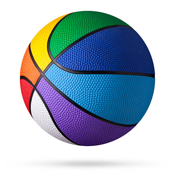 Colored basketball.:スマホ壁紙(壁紙.com)