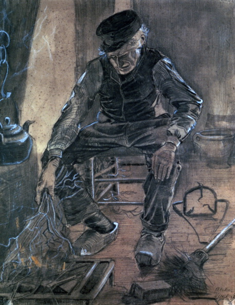 クレヨン「'Old Man Kindling Wood', 1881. Artist: Vincent van Gogh」:写真・画像(8)[壁紙.com]