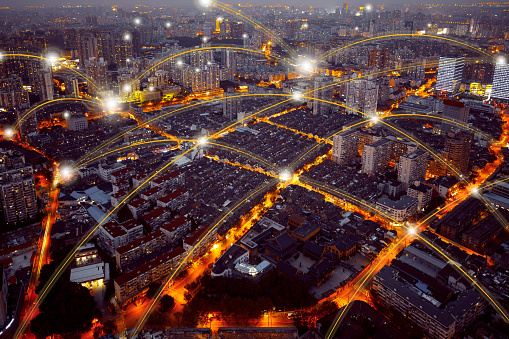 Shanghai「City network technology in Shanghai,China」:スマホ壁紙(12)