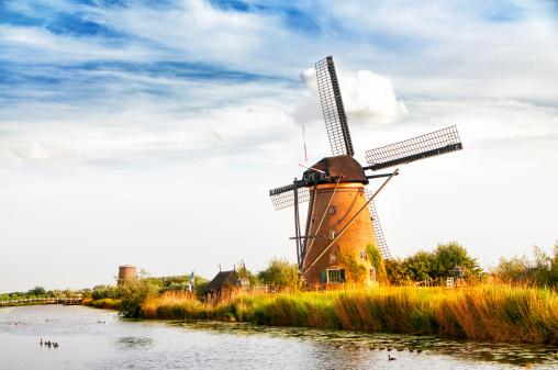 Netherlands「Fantastic view of Windmills at sunset」:スマホ壁紙(17)