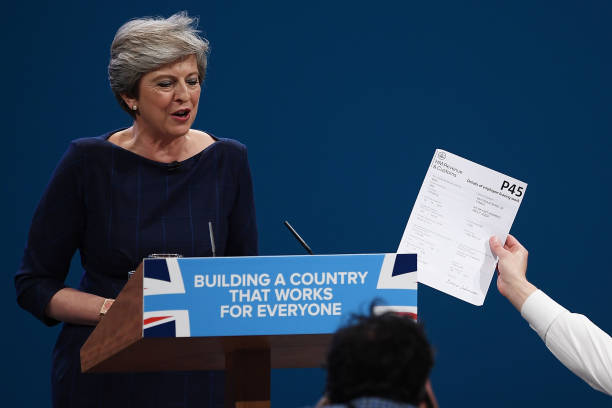 Speech「Conservative Leader Makes Her Keynote Speech To Party Conference」:写真・画像(19)[壁紙.com]
