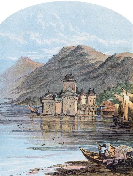 Vaud Canton「The Chillon Castle, Lake Geneva, Switzerland, 1864.」:写真・画像(17)[壁紙.com]