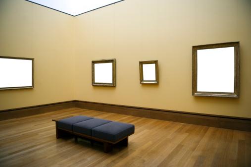 アート「空白フレームの壁」:スマホ壁紙(13)