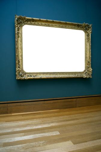 Canvas Fabric「Empty frame on wall」:スマホ壁紙(0)