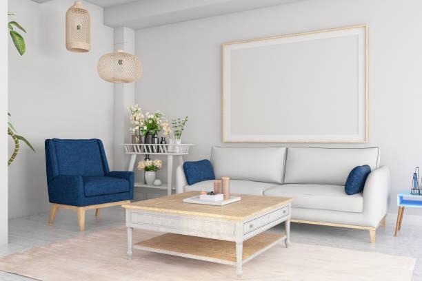Empty Frame in Living Room:スマホ壁紙(壁紙.com)