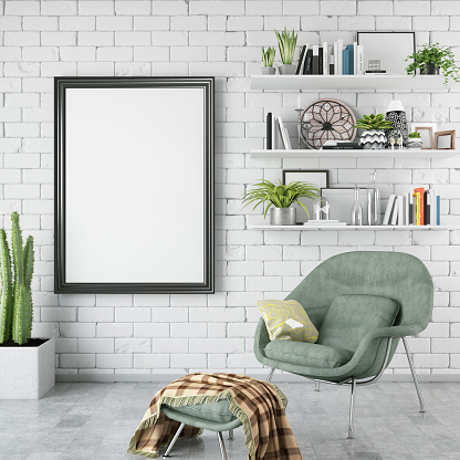 Wall - Building Feature「Empty Frame in Living Room」:スマホ壁紙(5)