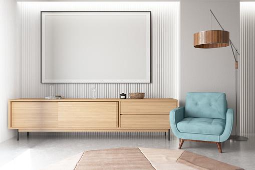 Art「Empty Frame in Living Room with Armchair」:スマホ壁紙(6)