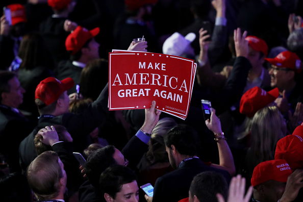 MAGA「Republican Presidential Nominee Donald Trump Holds Election Night Event In New York City」:写真・画像(15)[壁紙.com]