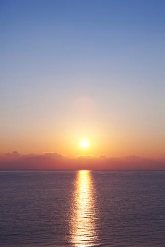 夕焼け 海「日の出」:スマホ壁紙(10)