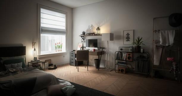 Cozy and Messy Home Interior:スマホ壁紙(壁紙.com)