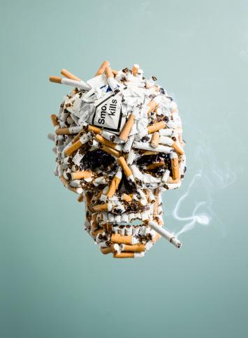 Evil「Skull made from cigarettes , smoking」:スマホ壁紙(16)