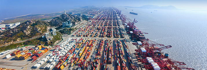 Shanghai「Shanghai Yangshan Port panorama」:スマホ壁紙(1)
