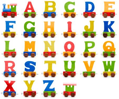Typescript「Toy train alphabet」:スマホ壁紙(0)