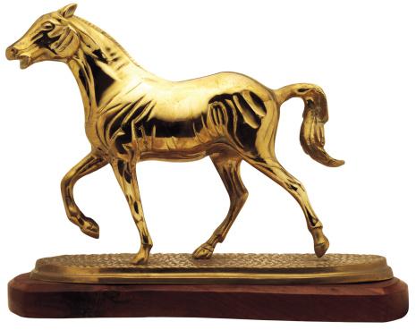 Horse「a golden statue of a horse」:スマホ壁紙(3)
