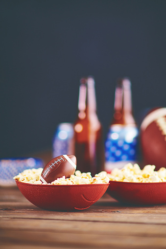 Snack「Time to watch football on TV. Popcorn with American football」:スマホ壁紙(6)