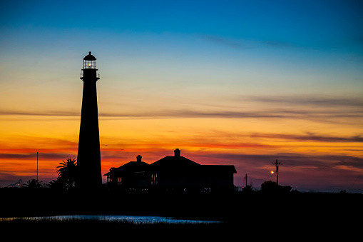 Beacon「Point Bolivar Lighthouse at sunset」:スマホ壁紙(11)