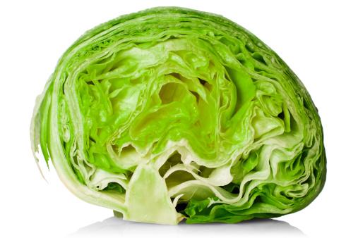 Cross Section「Fresh iceberg lettuce cut in half」:スマホ壁紙(16)