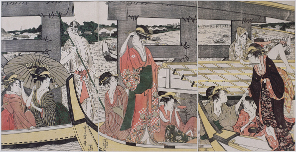 江戸時代「On top and beneath Ryogoku Bridge, c」:写真・画像(16)[壁紙.com]