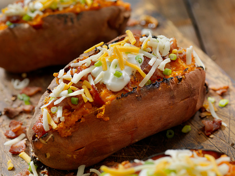 Baked Potato「Loaded, Twice Baked Sweet Potato with Bacon, Cheese, Green Onions and Sour Cream」:スマホ壁紙(8)