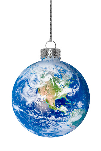 Symbols Of Peace「Christmas ornament with earth globe as the glass ball」:スマホ壁紙(13)
