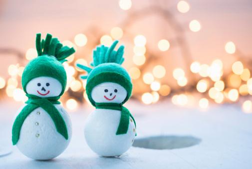 雪だるま「christmas ornaments」:スマホ壁紙(17)