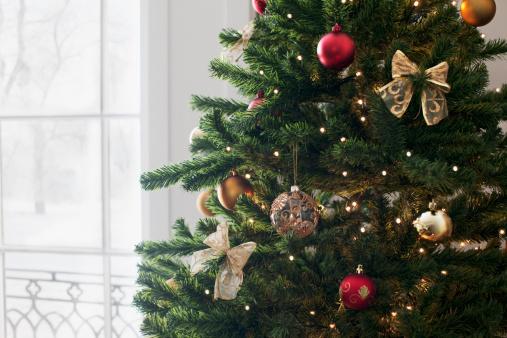 Christmas Decoration「Christmas ornaments on tree」:スマホ壁紙(13)