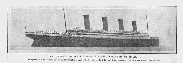 Passenger Craft「The Titanics Passengers Taking Their Last Look At Home (」:写真・画像(16)[壁紙.com]