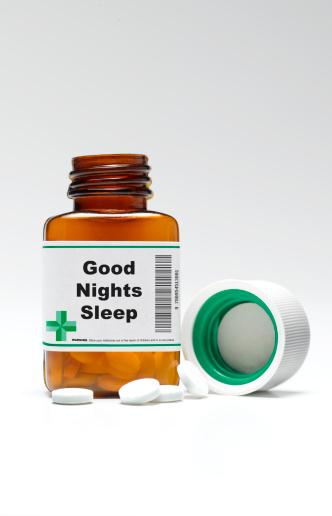 Sleeping Pill「Good night sleep pill bottle and pills」:スマホ壁紙(10)