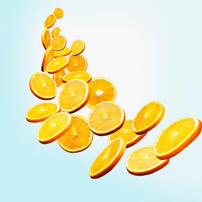 Orange - Fruit「Floating orange slices」:スマホ壁紙(9)